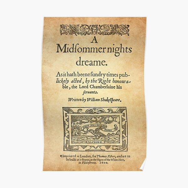 Shakespeare, A midsummer night's dream 1600 Póster