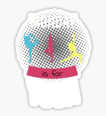 Monday is for Yoga Weekday Yoga T-Shirt Sticker
