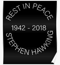 Stephen Hawking RIP Poster