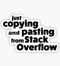 Stack Overflow STICKER Sticker