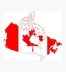 Canada Continent Flag Photographic Print
