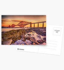 Sunrise over the Forth Bridge Postcards