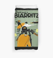 """BIARRITZ"" Vintage Travel Advertising Print Duvet Cover"