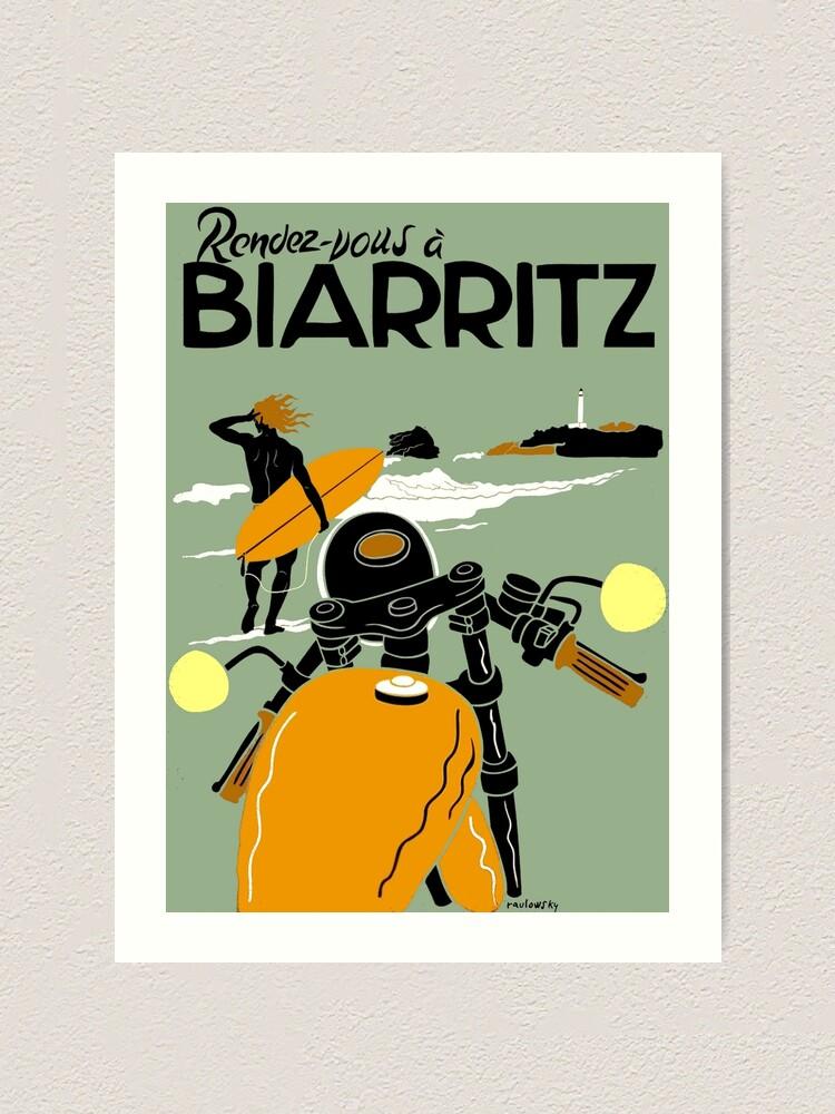 Art print POSTER CANVAS Biarritz at Sunset
