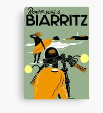 "Lienzo ""BIARRITZ"" Publicidad de viajes vintage"