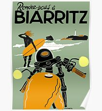 """BIARRITZ"" Vintage Travel Advertising Print Poster"