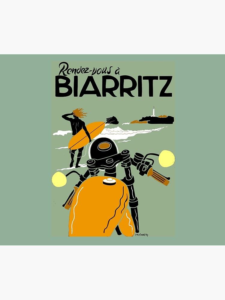 """""""BIARRITZ"""" Vintage Reise Werbung Print von posterbobs"""