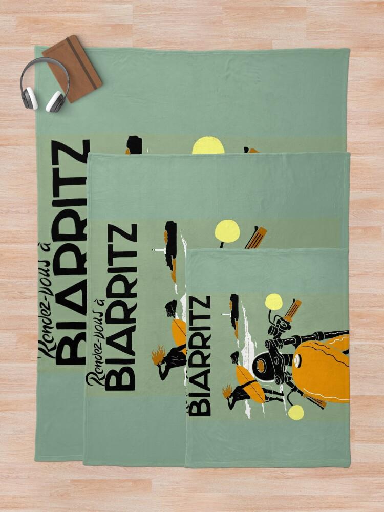 """Alternative Ansicht von """"BIARRITZ"""" Vintage Reise Werbung Print Fleecedecke"""
