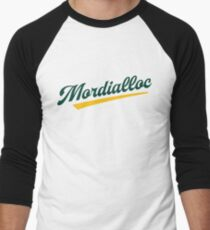 Mordialloc Old School Baseball Script Baseball ¾ Sleeve T-Shirt
