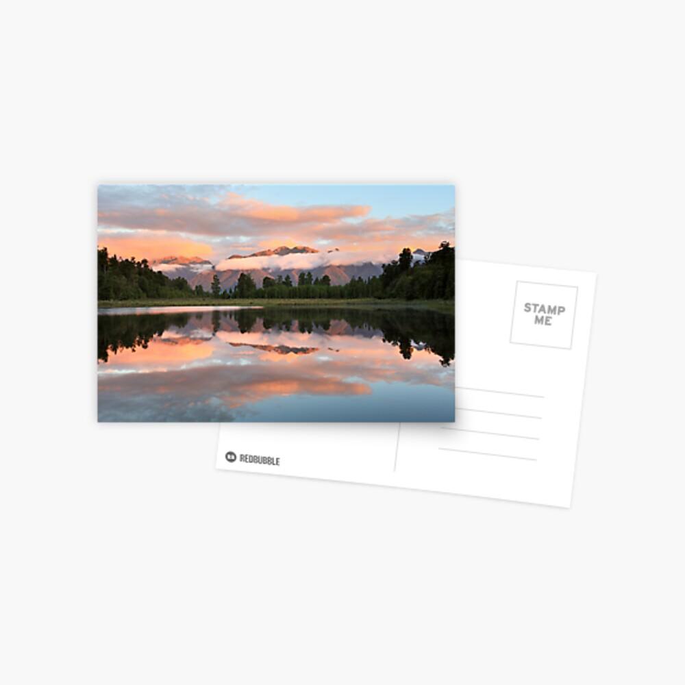 Lake Matheson, South Island, New Zealand Postcard