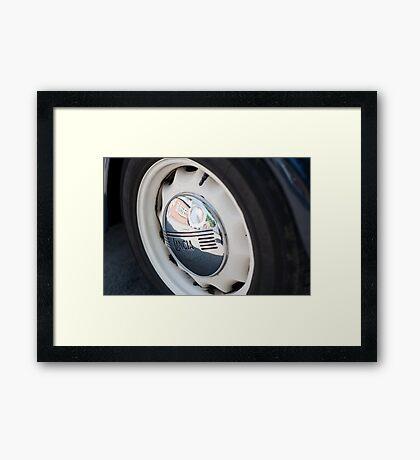 Lancia Aprilia Wheel Framed Print