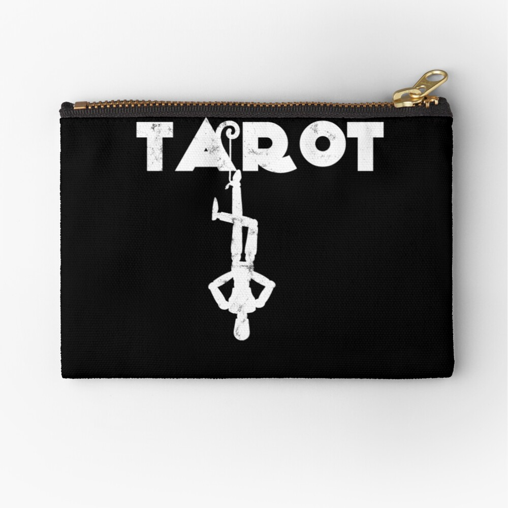 Tarot Hanged Man Fortune Teller Crystal Ball Palm Reader | Zipper Pouch