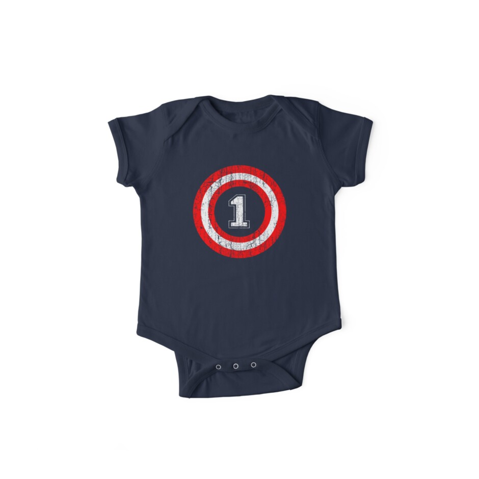 Captain 1st Birthday Gift For One Year Old Baby Bodysuit 12M 18M Toddler