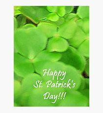Happy St Patricks Day Photographic Print