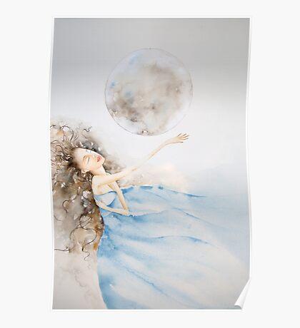 il bagno al chiaro di luna © 2009 patricia vannucci  Poster