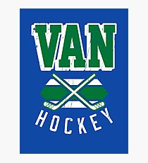 Vintage Vancouver Hockey Design Photographic Print