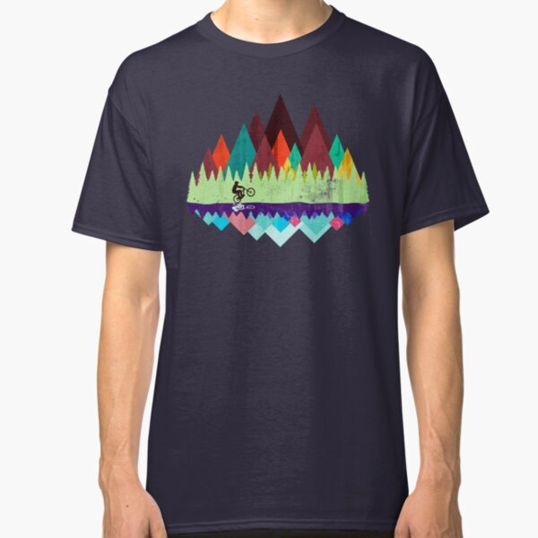 MTB trails retro Classic T-Shirt