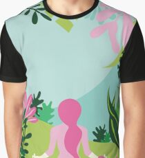 Yoga Garden Graphic T-Shirt
