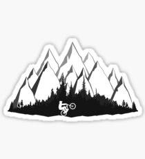 Pegatina Montañas MTB