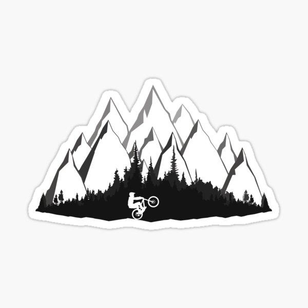 MTB Mountains Sticker