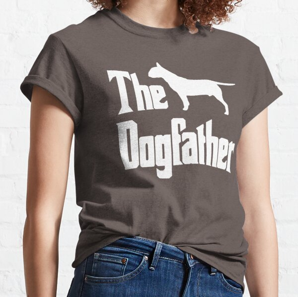 The Dogfather, Bull Terrier silhouette, funny dog gift, dog lover shirt, dog gift Classic T-Shirt