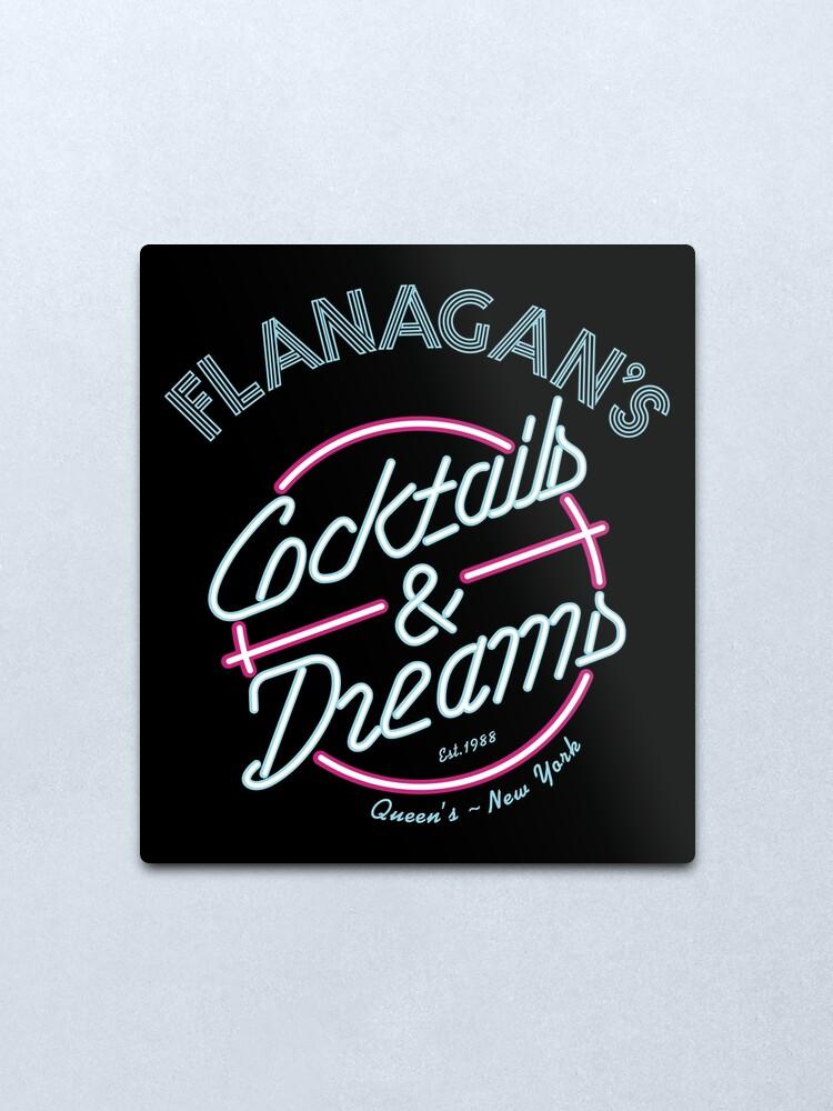 Alternate view of Flanagan's - Cocktails & Dreams Variant Metal Print