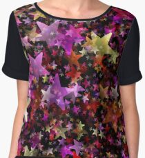 Abstract background Chiffon Top