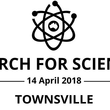 March for Science Townsville logo - black by sciencemarchau
