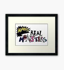 aaahh!!! Real Monsters Framed Print