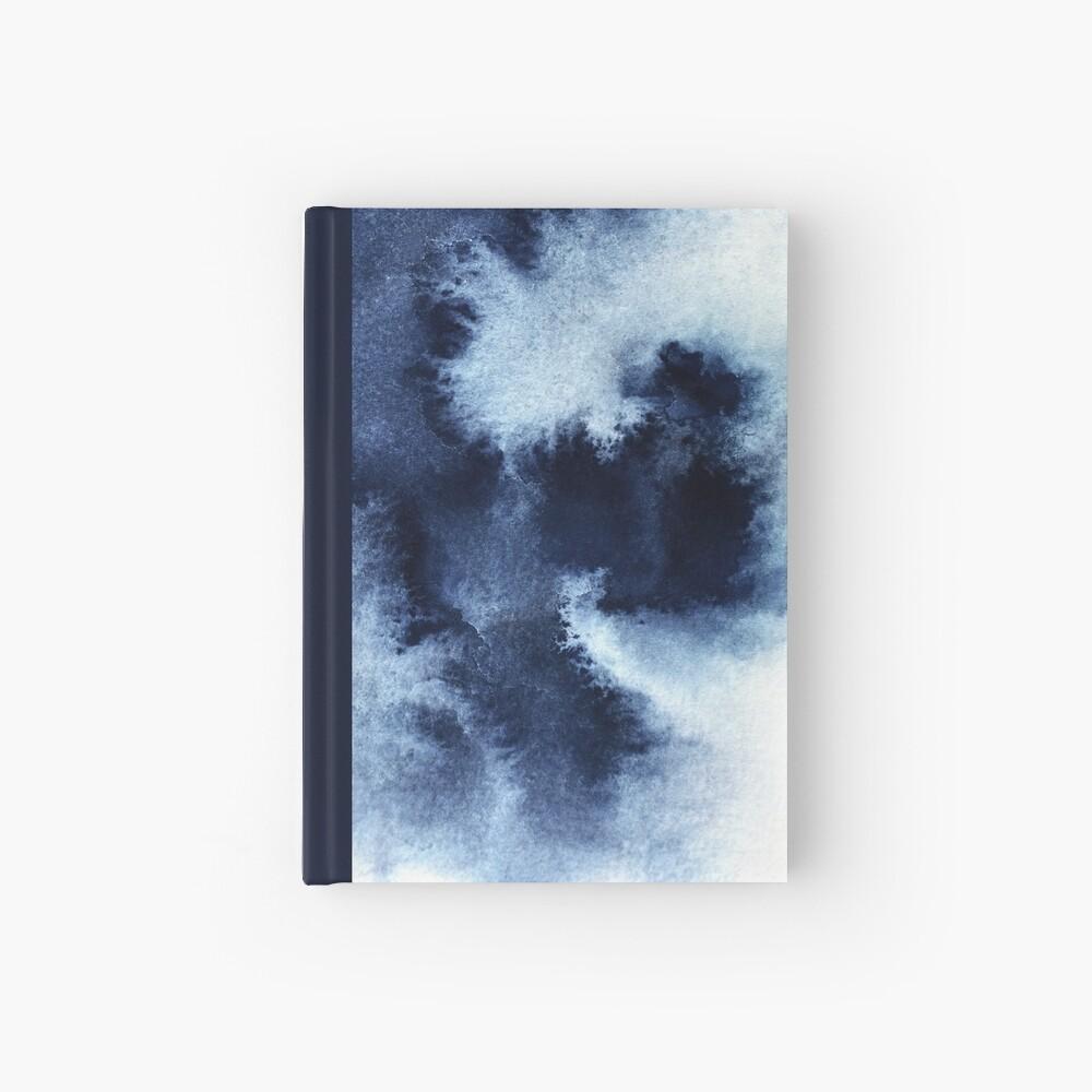 Indigo Nebula, Blue Abstract Painting Hardcover Journal