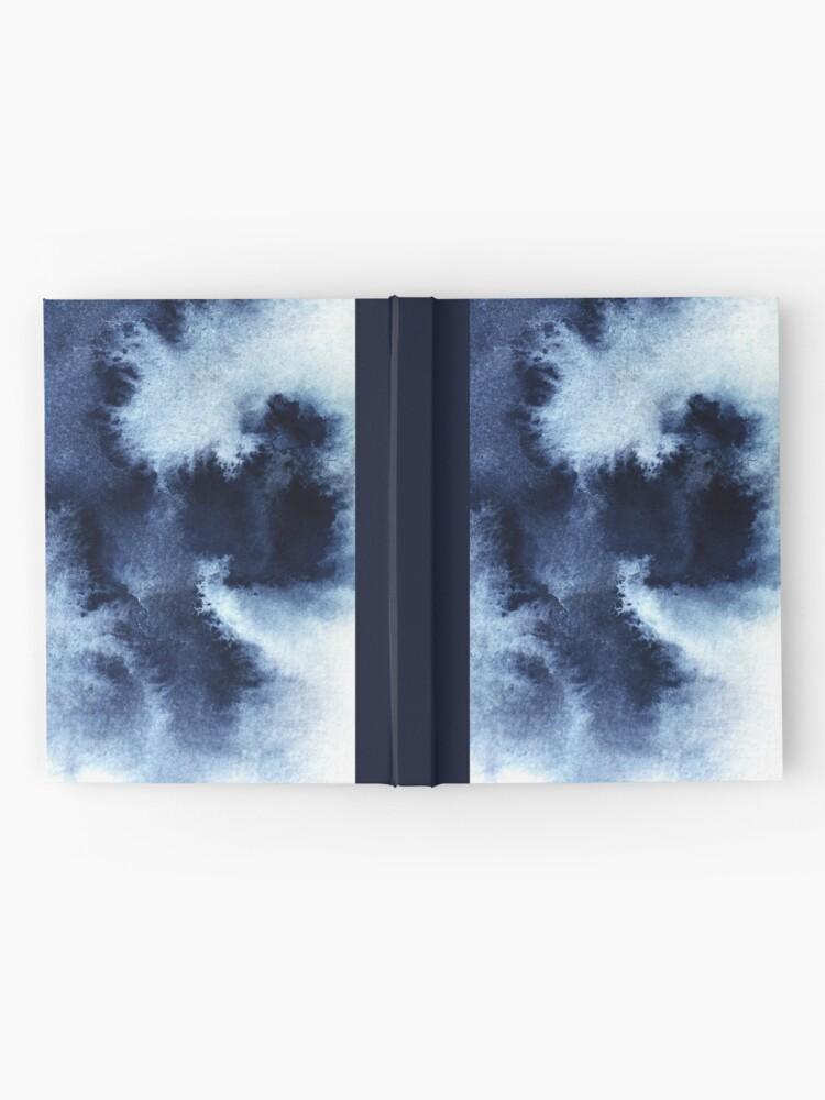 Alternate view of Indigo Nebula, Blue Abstract Painting Hardcover Journal