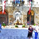 People In The Square In Front Of The Municipality by Giuseppe Cocco