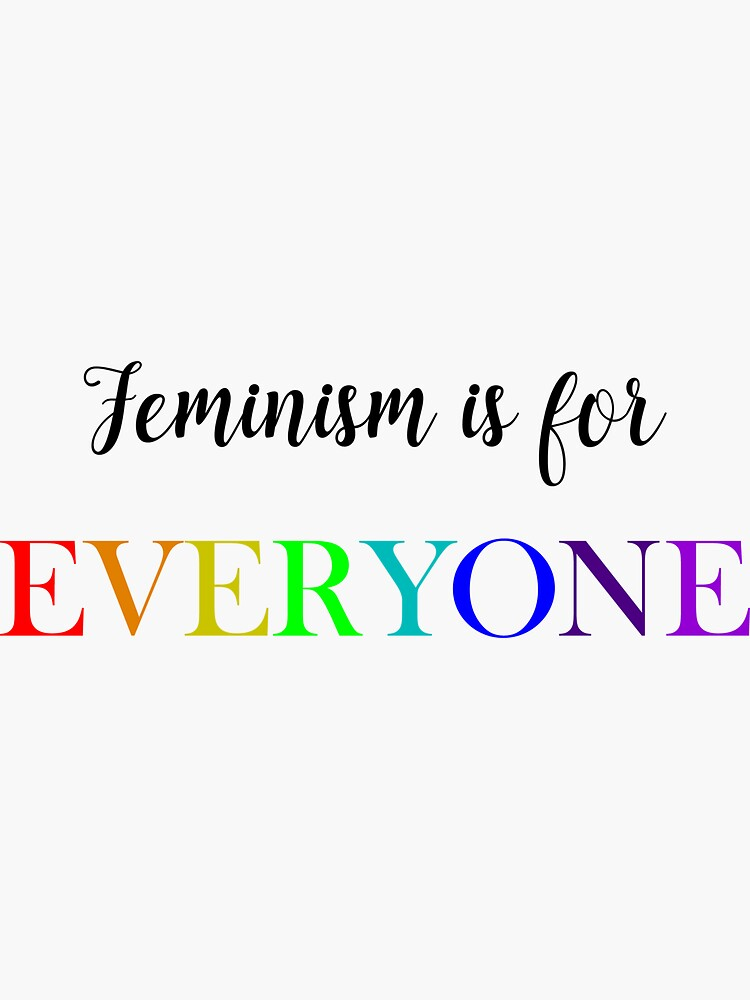 Feminism is for everyone rainbow by Epicfied