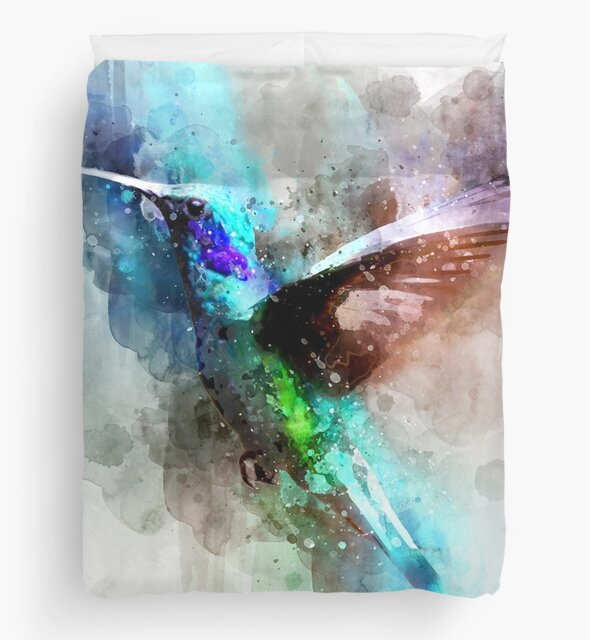 bird drawing with splash effect by lovecomunicatio