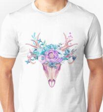 Skull and flowers Unisex T-Shirt