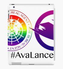 Avalance Time Bureau, Canary Logo (Pride flag edition) Black Text iPad Case/Skin