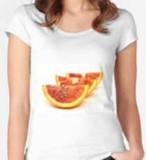 Red oranges wedges Women's Fitted Scoop T-Shirt