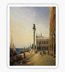 Venise, La Piazetta- Jean-Baptiste-Camille Corot Sticker