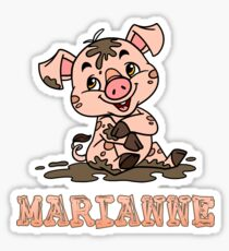 Marianne Piggy Sticker