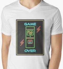 Video Game 80s Neon Sign Men's V-Neck T-Shirt