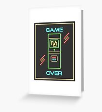 Video Game 80s Neon Sign Greeting Card