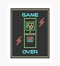 Video Game 80s Neon Sign Photographic Print