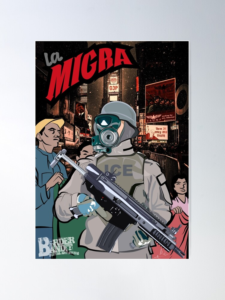 Alternate view of La Migra, A Dystopian View of America Through the Eyes of an Immigrant Poster