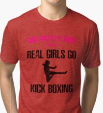 Womans Girls Kickboxing Tri-blend T-Shirt