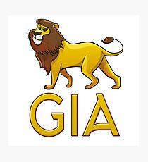Gia Lion Drawstring Bags Photographic Print