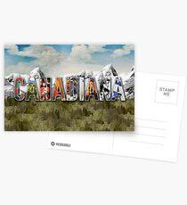 Canadiana Text Logo Postcards