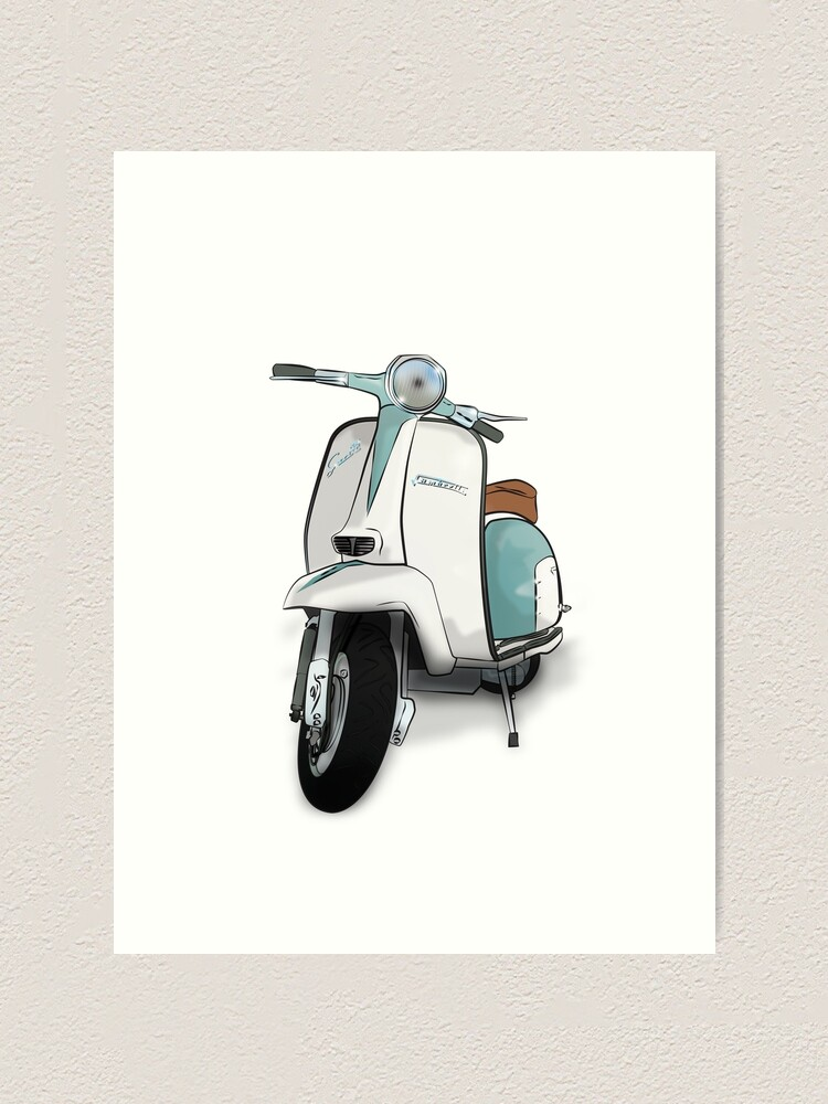 Alternate view of Lambretta Special - Vintage Scooter Art Print
