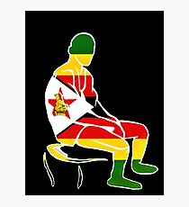 Custom Stencil Man - Zimbabwe  Photographic Print
