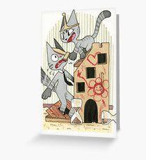 Cardboard Cat Part 2 Greeting Card