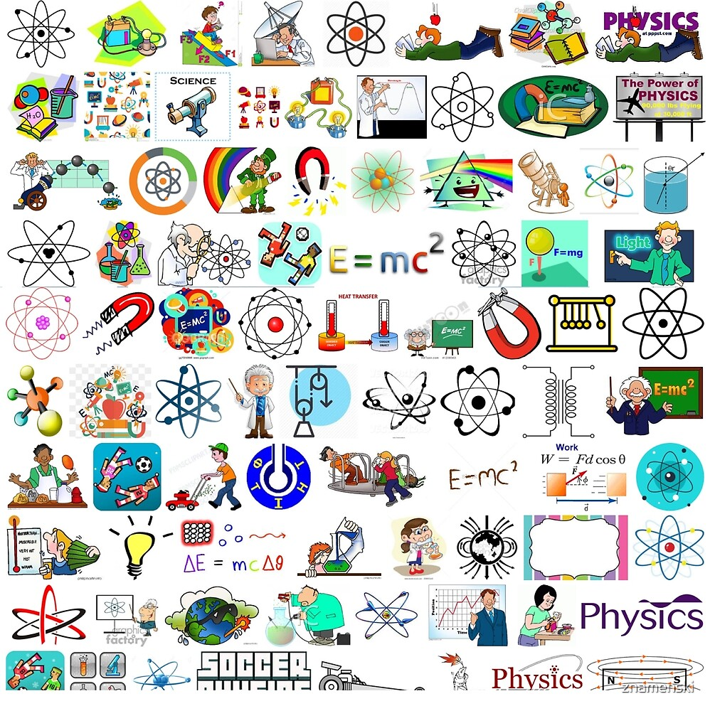 Physics Alphabet Letter Isolated Colorful Text Puzzle Letters